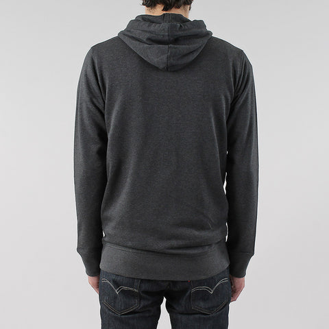 Black Pug Basic Zip Hoodie - Charcoal Heather