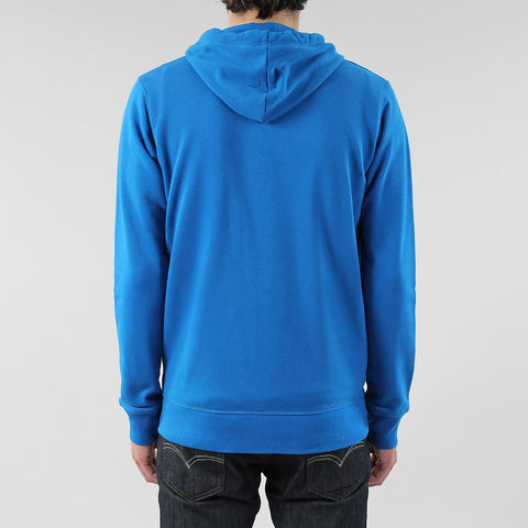 Black Pug Basic Zip Hoodie - Royal Blue
