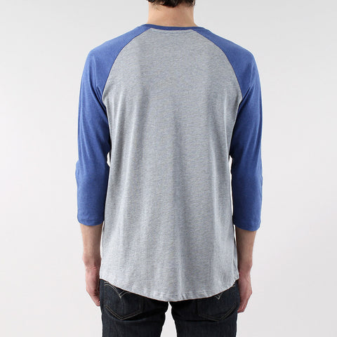 Black Pug Basic baseball raglan Tee - Blue - Born Store