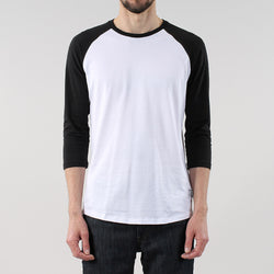 Black Pug Basic baseball raglan Tee - Black - Born Store