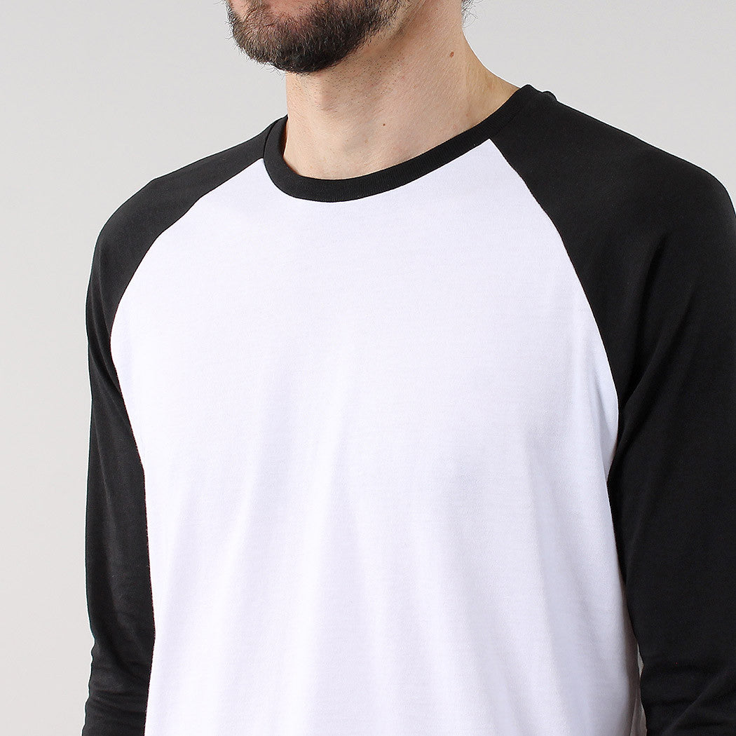 Black Pug Basic baseball raglan Tee - Black