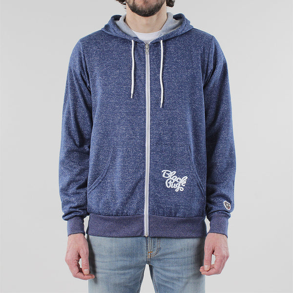 Black Pug Light Weight Zip Hoodie - Blue - Born Store