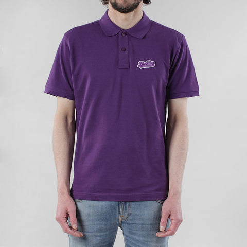 Black Pug Baseball Patch Polo - Purple/Purple