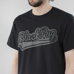 Black Pug Baseball Logo - Black/Charcoal