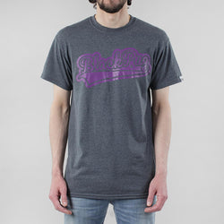 Black Pug Baseball Logo - Grey Heather/Purple - Born Store