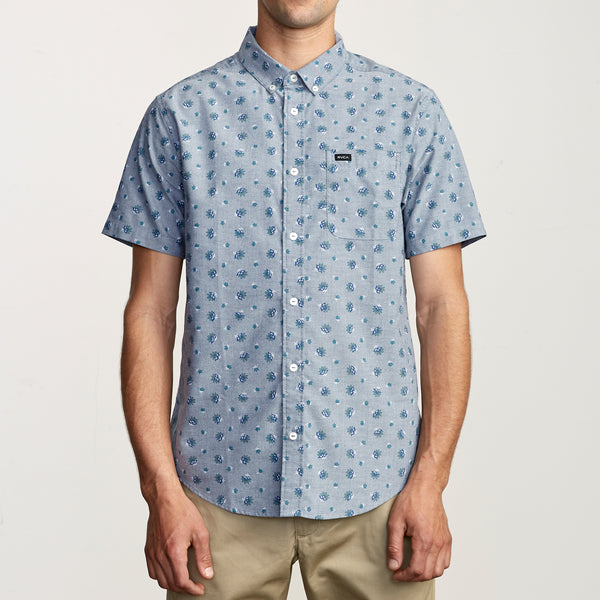 RVCA That'll Do Button-Up Shirt - Distance Blue - Born Store