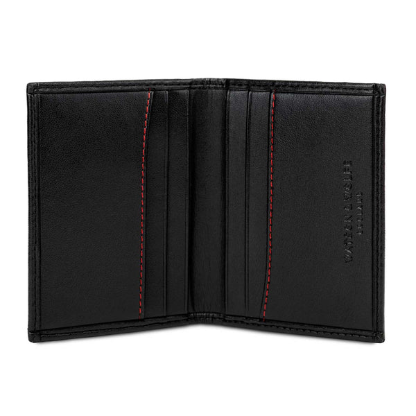 Watson & Wolfe Vegan Bifold Card Wallet - Black - Born Store
