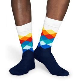Happy Socks - Faded Diamond Sock - Born Store