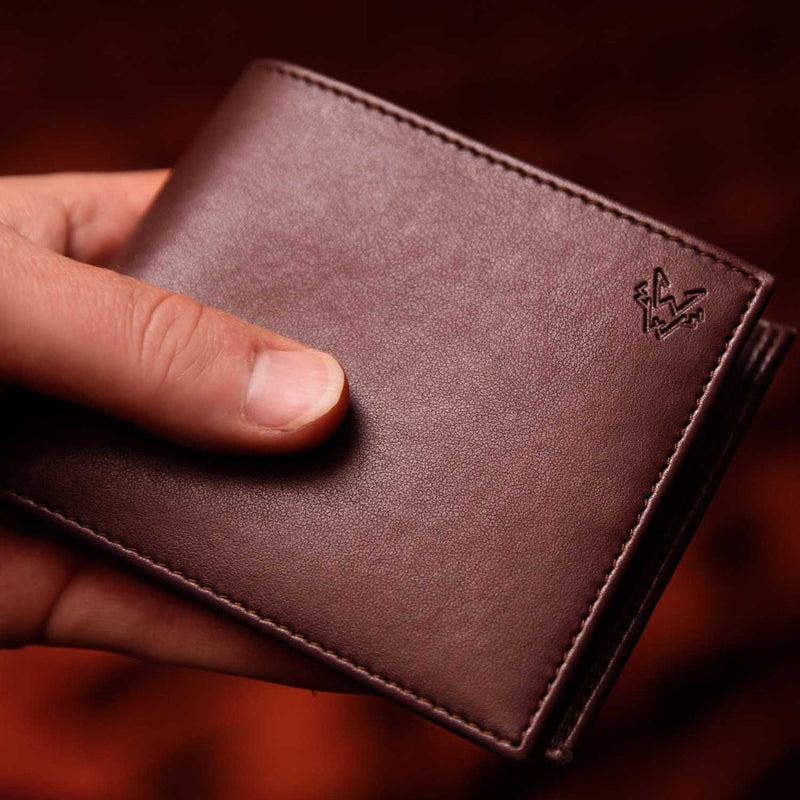 Watson & Wolfe Vegan Wallet - Brown - Born Store