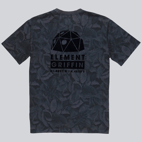 Griffin x Element Leaf Camo Tee Shirt - Flint Black