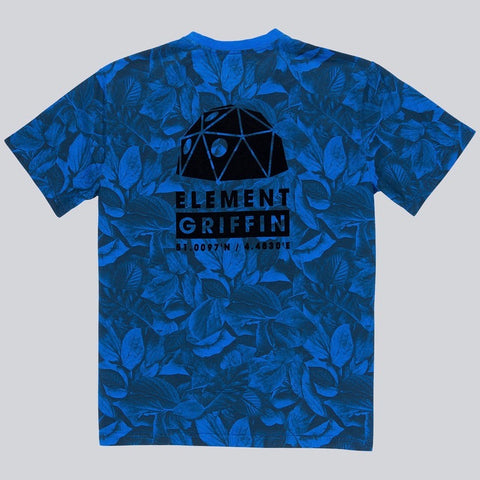 Griffin x Element Leaf Camo Tee Shirt - Royal Blue