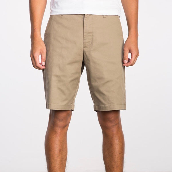 "RVCA Weekend stretch 20"" Short - Dark Khaki - Born Store"