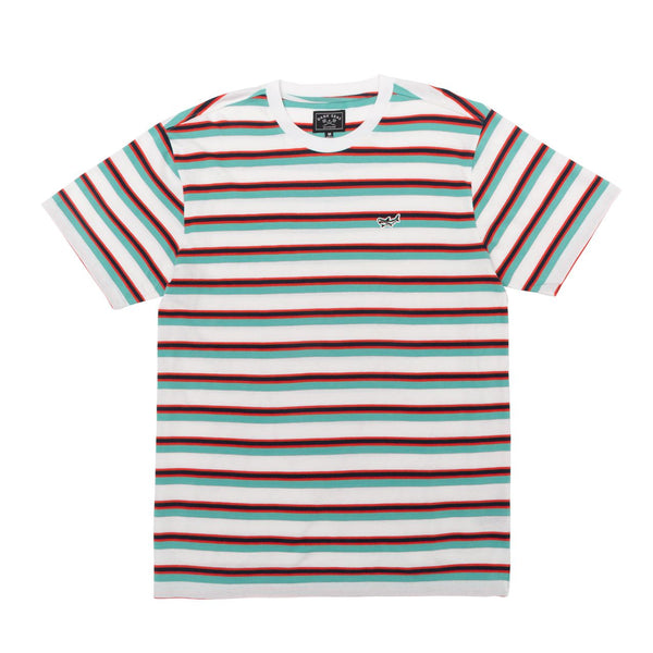 Dark Seas Barge Striped Tee Shirt - White