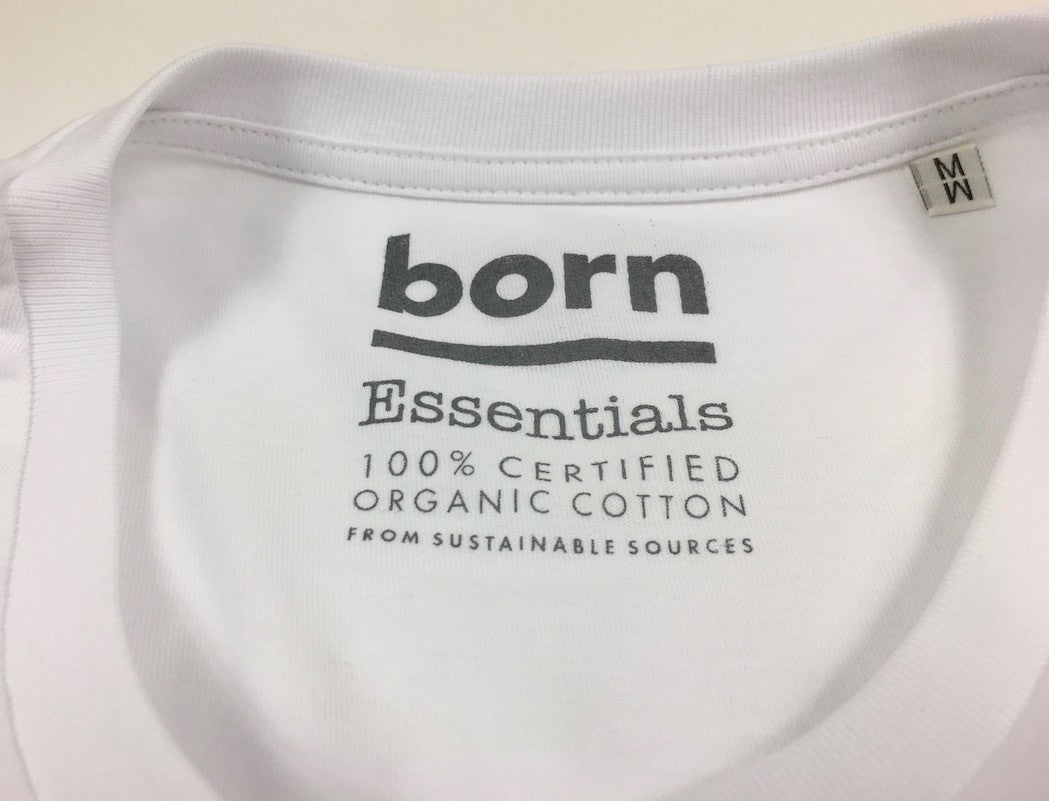 Born Essentials Logo Organic Cotton S/S Tee Shirt -  White/Grey