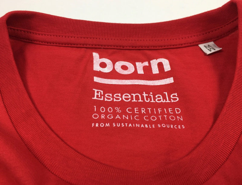 Born Essentials Organic Cotton S/S Tee Shirt - Red - Born Store