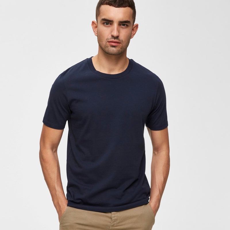 Selected Homme The Perfect Tee - Navy - Born Store