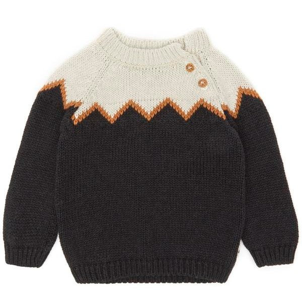 My Little Cozmo Dark Grey Milwaukee Knitted Jumper | POCO KIDS