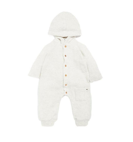 My Little Cozmo Light Grey Donegal Baby Overall | POCO KIDS
