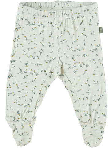 Kidscase Happy Flower Print Footed Leggings | POCO KIDS
