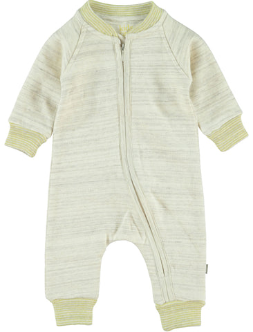 Kidscase Life Cream and Yellow Zipped Onepiece | POCO KIDS