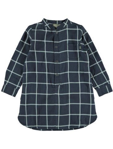 Kidscase Ramsey Navy Check Shirt Dress | POCO KIDS