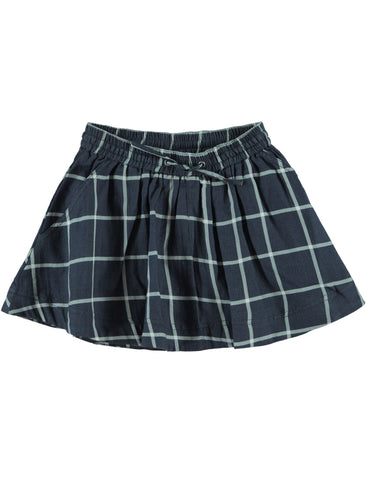 Kidscase Ramsey Navy Check Skirt | POCO KIDS