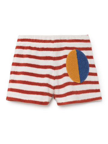 Bobo Choses Red Striped Terry Shorts | POCO KIDS