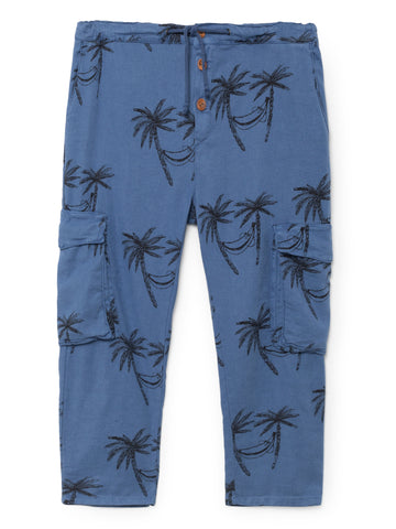 Bobo Choses Blue Siesta Cargo Linen Pants