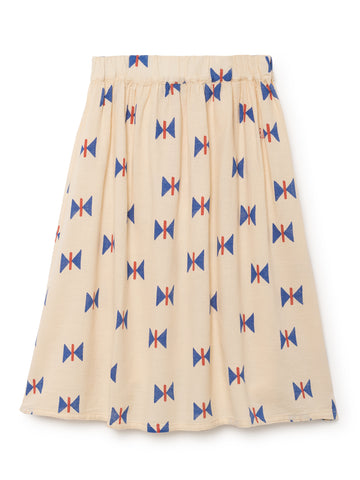 Bobo Choses Cream Butterfly Midi Skirt | POCO KIDS
