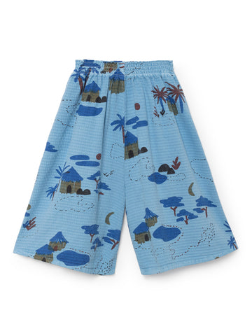 Bobo Choses Blue Gombe Cullote Pants | POCO KIDS