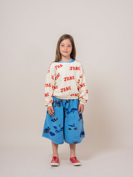 Bobo Choses Blue Gombe Cullote Pants, look book | POCO KIDS