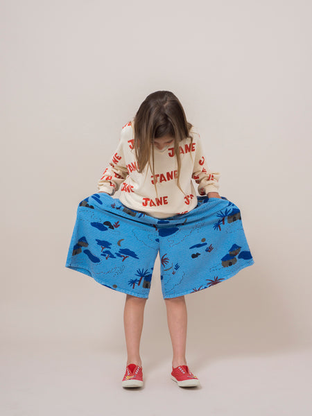 Blue Gombe Culotte Pants