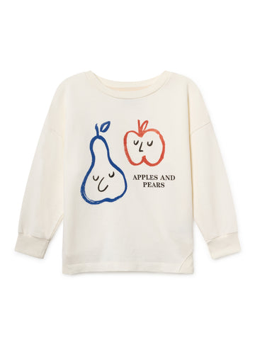 Bobo Choses White Apple and Pears Sweatshirt | POCO KIDS