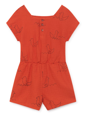 Bobo Choses Red Geese Playsuit | POCO KIDS