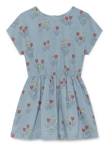 Bobo Choses Light Blue Poppy Prairie Dress | POCO KIDS
