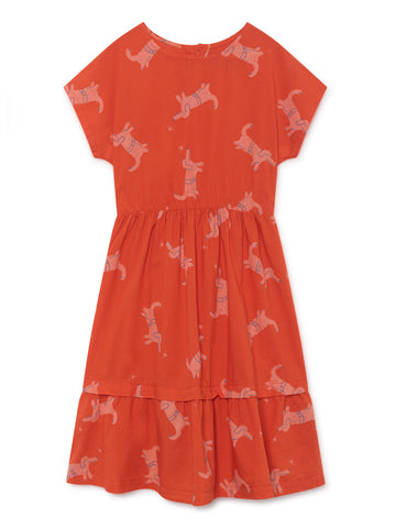 Bobo Choses Red Dogs Princess Midi Dress | POCO KIDS