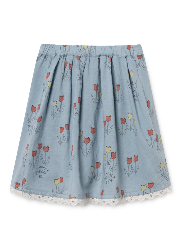 Bobo Choses Light Blue Poppy Prairie Flared Skirt | POCO KIDS