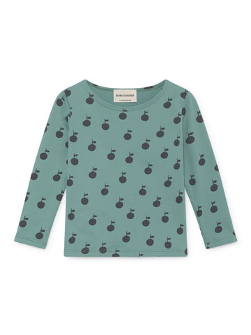 Bobo Choses Sage Green Apples Swim Top | POCO KIDS