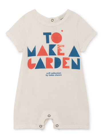 Bobo Choses White To Make a Garden Playsuit | POCO KIDS