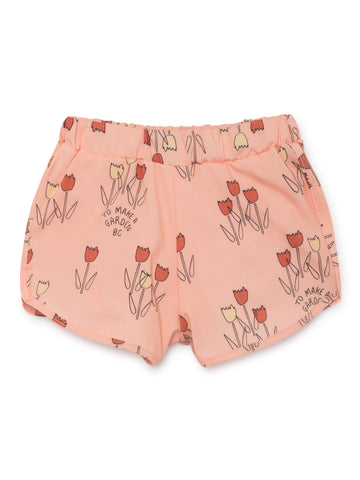 Bobo Choses Rose Pink Poppy Prairie Swim Shorts | POCO KIDS