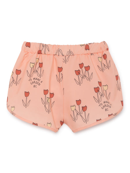 Rose Pink Poppy Prairie Swim Shorts