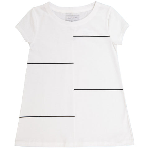 Jax & Hedley White Horizon T-Shirt Dress | POCO KIDS