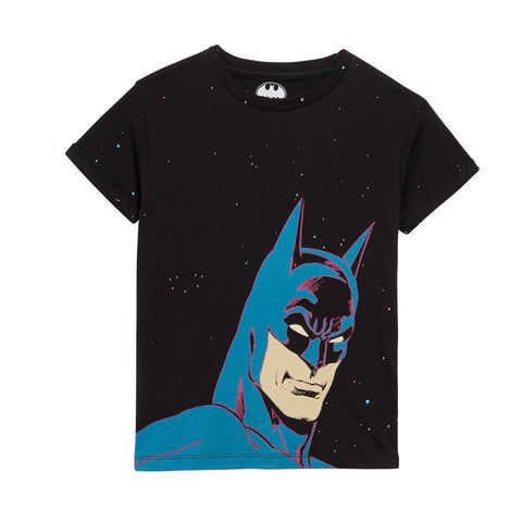 Little Eleven Paris Black Batman T-Shirt | POCO KIDS