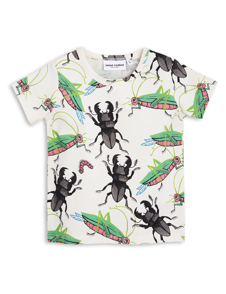 Mini Rodini Off White T-shirts with an insects all over print | POCO KIDS