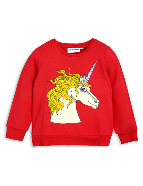Mini Rodini Red Unicorn Sweatshirt | POCO KIDS