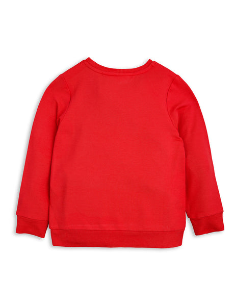 Mini Rodini Red Unicorn Sweatshirt, back | POCO KIDS