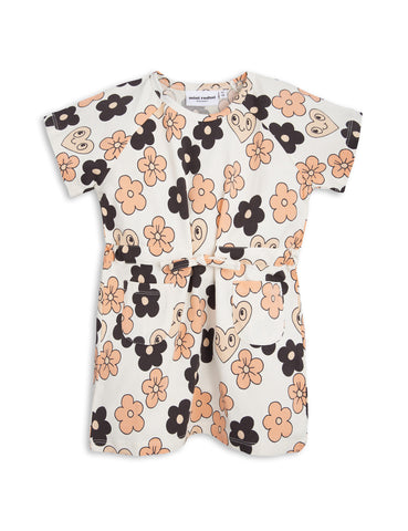 Mini Rodini Off White Flowers Dress | POCO KIDS