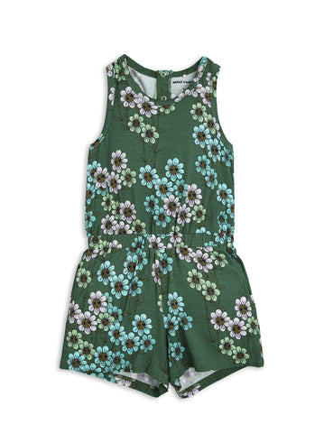 Mini Rodini Dark Green Daisy Summersuit | POCO KIDS