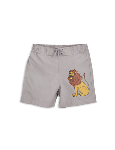 Mini Rodini Light Grey Lion Swimshorts | POCO KIDS