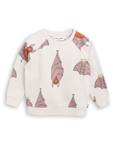 Mini Rodini Light Grey Bat Sweatshirt | POCO KIDS